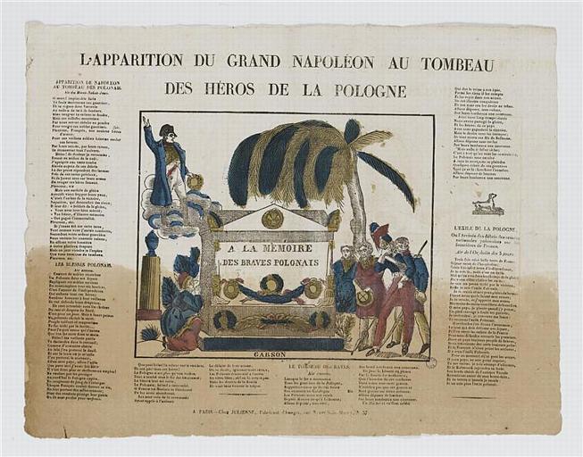L'APPARITION DU GRAND NAPOLEON AU TOMBEAU / DES HEROS DE LA POLOGNE (titre inscrit)_0