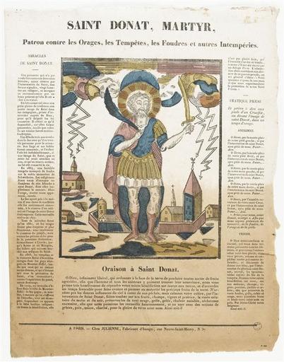 SAINT DONAT, MARTYR, / Patron contre les Orages, les Tempêtes, les Foudres et autre Imtempéries. (titre inscrit)_0