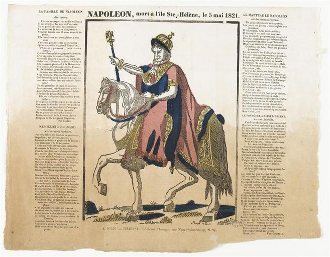 NAPOLEON, mort à l'île Ste.-Hélène, le 5 mai 1821. (titre inscrit)_0