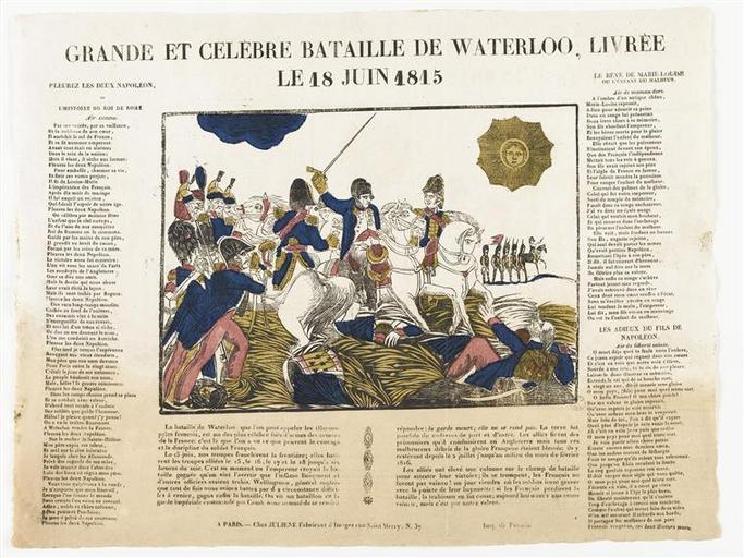 GRANDE ET CELEBRE BATAILLE DE WATERLOO, LIVREE / LE 18 JUIN 1815 (titre inscrit)_0