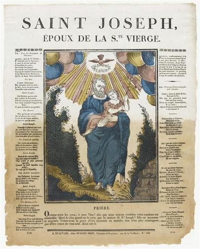 SAINT JOSEPH, / EPOUX DE LA S.TE VIERGE. (titre inscrit)_0