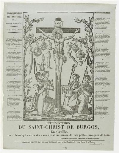 REPRESENTATION / DU SAINT-CHRIST DE BURGOS / En CAstille (titre inscrit)_0