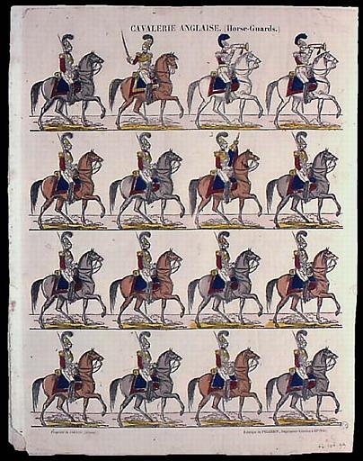 CAVALERIE ANGLAISE. (Horse-Guards.) (titre inscrit)