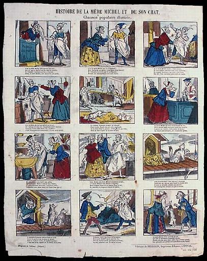 HISTOIRE DE LA MERE MICHEL DE SON CHAT. / Chanson populaire illustrée (titre inscrit)