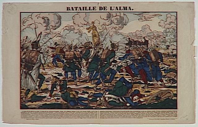 BATAILLE DE L'ALMA. (titre inscrit)
