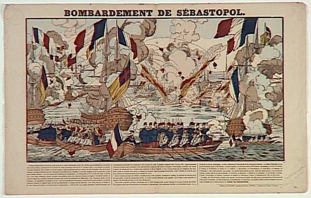 BOMBARDEMENT DE SEBASTOPOL. (titre inscrit)