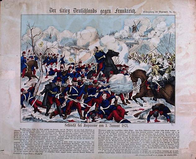 Der Krieg Deutschlands gegen Frankreich. (titre inscrit)