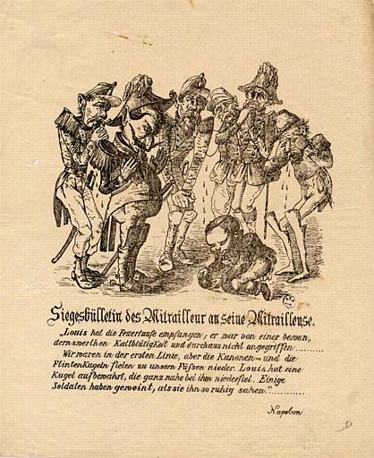 Siegbülletin des Mitrailleur an seine Mitrailleuse. (titre inscrit)
