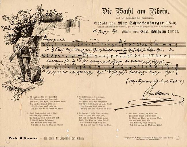 Die Macht am Rhein , / nach der handschrift des Componisten (titre inscrit)