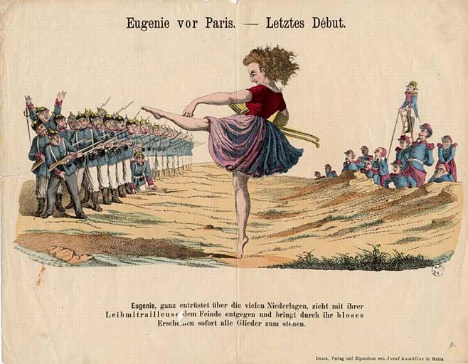 Eugenie vor Paris. - Letztes Début. (titre inscrit)