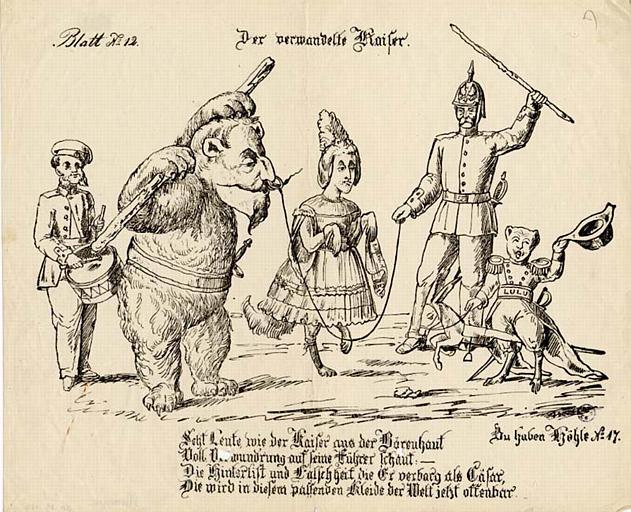 Der verwandelte Kaiser. (titre inscrit)
