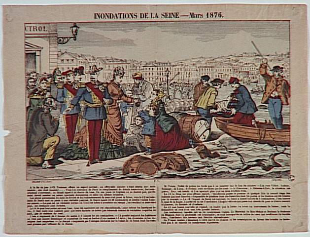 INONDATIONS DE LA SEINE - Mars 1876. (titre inscrit)