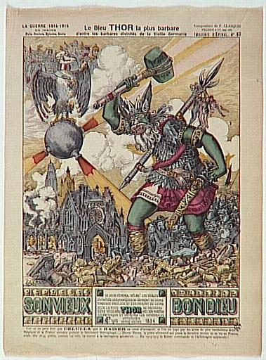 Le Dieu THOR la plus barbare / d'entre les barbares divinités de la Vieille Germanie (titre inscrit)