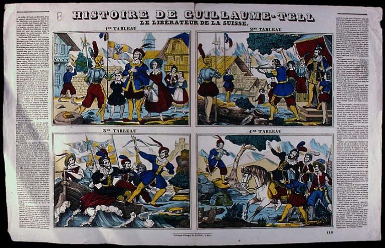 HISTOIRE DE GUILLAUME-TELL / LE LIBERATEUR DE LA SUISSE. (titre inscrit)