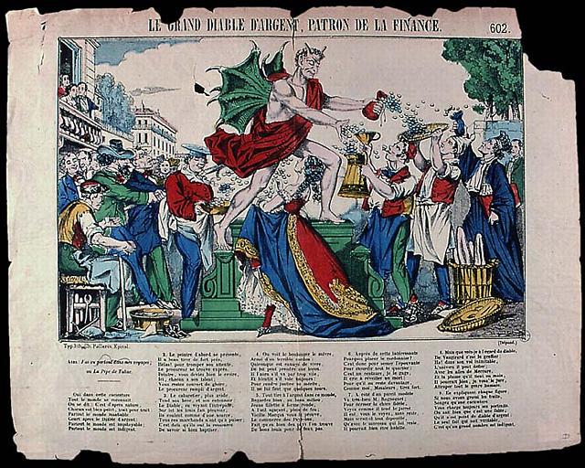 LE GRAND DIABLE D'ARGENT, PATRON DE LA FINANCE. (titre inscrit)