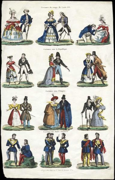 Costumes de diverses époques (titre factice)