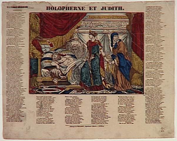 HOLOPHERNE ET JUDITH. (titre inscrit)