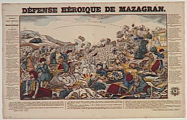 DEFENSE HEROIQUE DE MAZAGRAN. (titre inscrit)