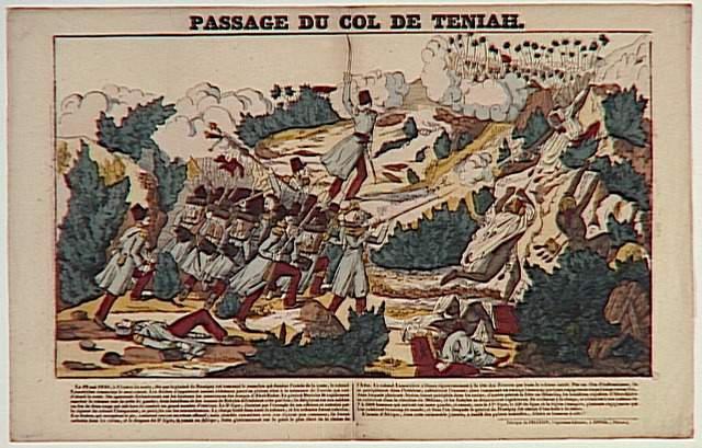PASSAGE DU COL DE TENIAH. (titre inscrit)