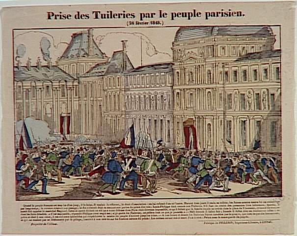 Prise des Tuileries par le peuple parisien. / (24 février 1848.) (titre inscrit)
