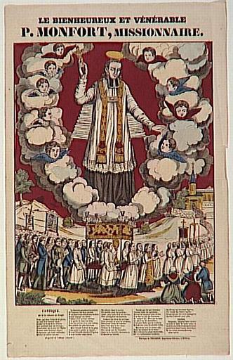 LE BIENHEUREUX ET VENERABLE / P. MONFORT, MISSIONNAIRE. (titre inscrit)
