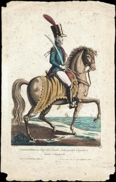 Commandant en Chef des Guides Interprètes Cavalerie. (titre inscrit)