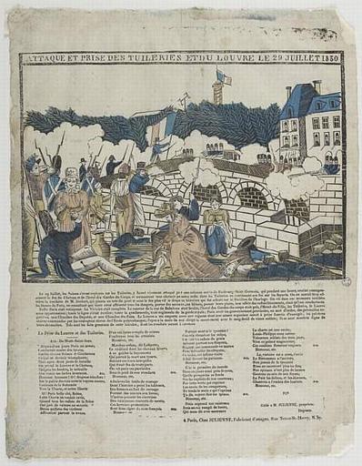 ATTAQUE ET PRISE DES TUILERIES ET DU LOUVRE LE 29 JUILLET 1830 (titre inscrit)
