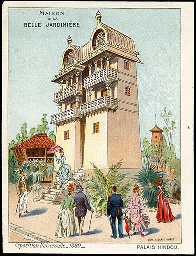 PALAIS HINDOU (titre inscrit) [exposition universelle de 1889]