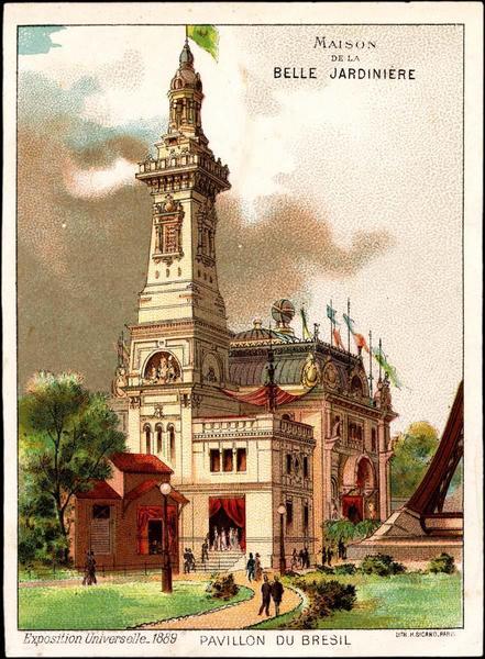 PAVILLON DU BRESIL (titre inscrit) [exposition universelle 1889]