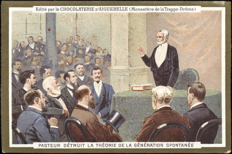 PASTEUR DETRUIT LA THEORIE DE LA GENERATION SPONTANEE (titre inscrit)