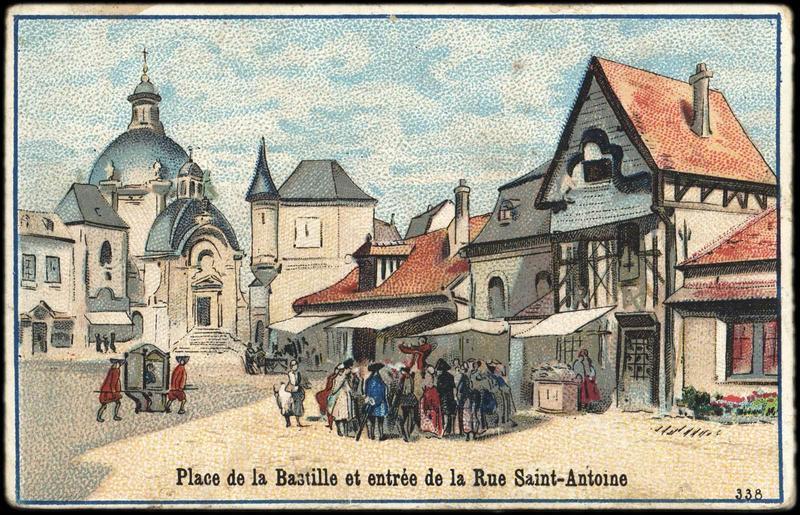Place de la Bastille et entrée de la Rue Saint-Antoine (titre inscrit)