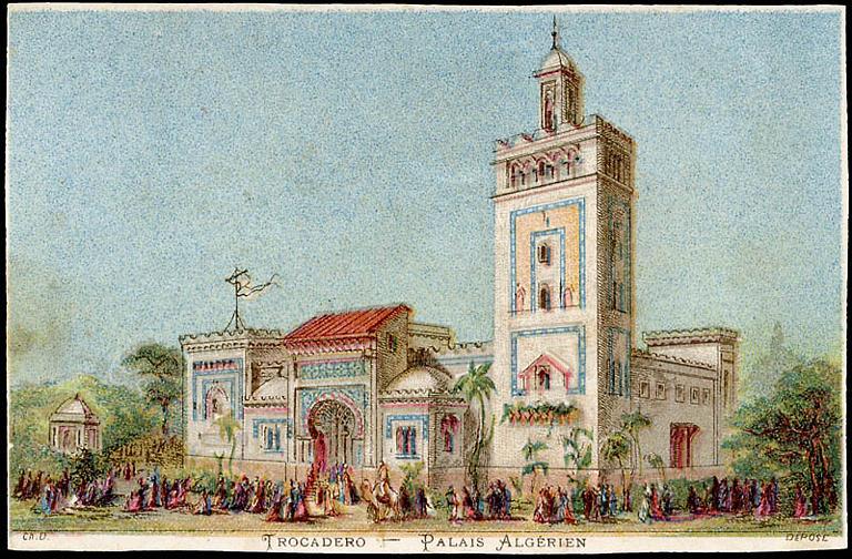 TROCADERO - PALAIS ALGERIEN (titre inscrit)