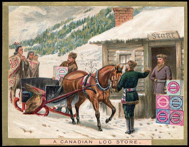 A CANADIAN LOG STORE. (titre inscrit)