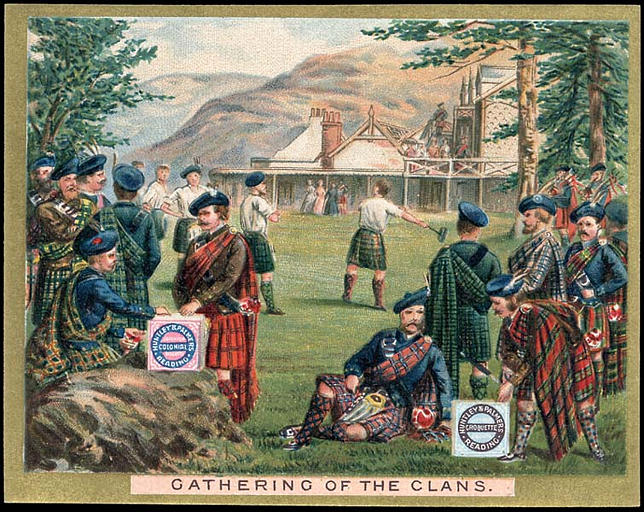 CATHERING OF THE CLANS. (titre inscrit)