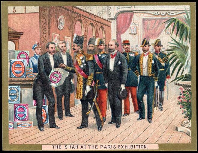 THE SHAH AT THE PARIS EXHIBITION. (titre inscrit) [exposition universelle de 1878]_0