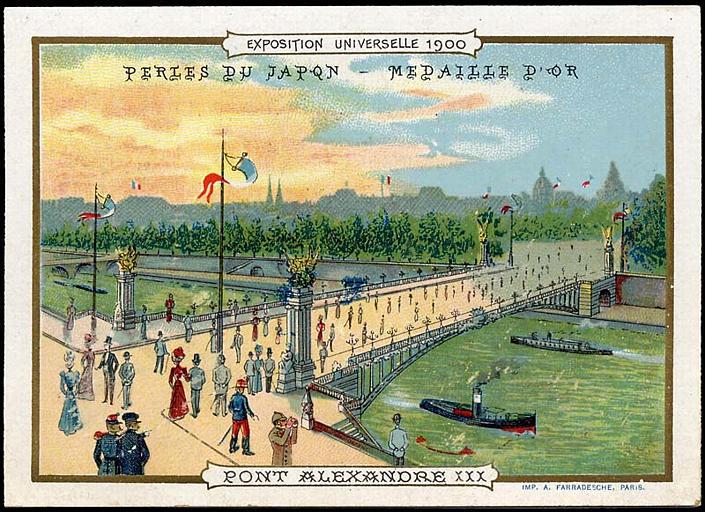 EXPOSITION UNIVERSELLE 1900 / PONT ALEXANDRE III (titre inscrit)