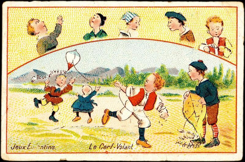 Jeux Enfantins. Le cerf-Volant. (titre inscrit)_0
