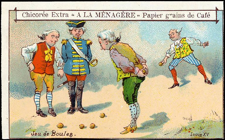 Jeu de Boules. Louis XV (titre inscrit)