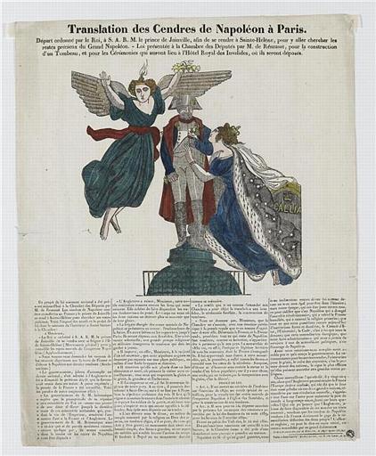 Translation des Cendres de Napoléon à Paris (titre inscrit)