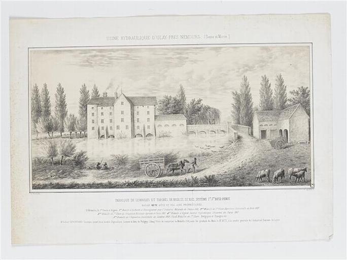 USINE HYDRAULIQUE D'ULAY PRES DE NEMOURS (Seine et Marne) (titre inscrit)