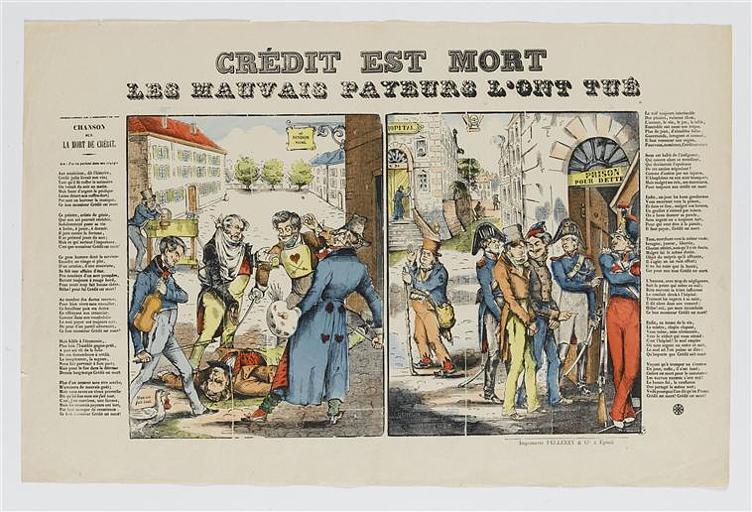 CREDIT EST MORT / LES MAUVAIS PAYEURS L'ONT TUE (titre inscrit)