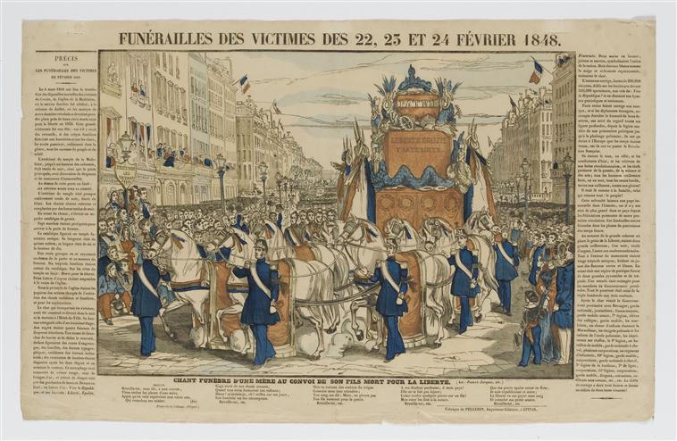 FUNERAILLES DES VICTIMES DES 22, 23 ET 25 FEVRIER 1848 (titre inscrit)