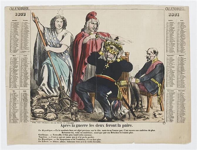 CALENDRIER / 1871 (titre inscrit)