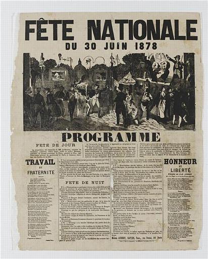 FETE NATIONALE DU 30 JUIN 1878 (titre inscrit)