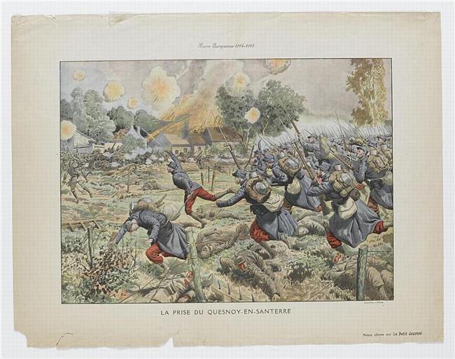 Guerre Européenne 1914-1915 / LA PRISE DE QUESNOY-EN-SANTERRE (titre inscrit)_0