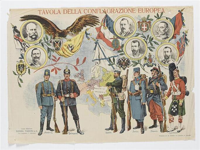 TAVOLA DELLA CONFLAGRAZIONE EUROPEA (titre inscrit, italien)