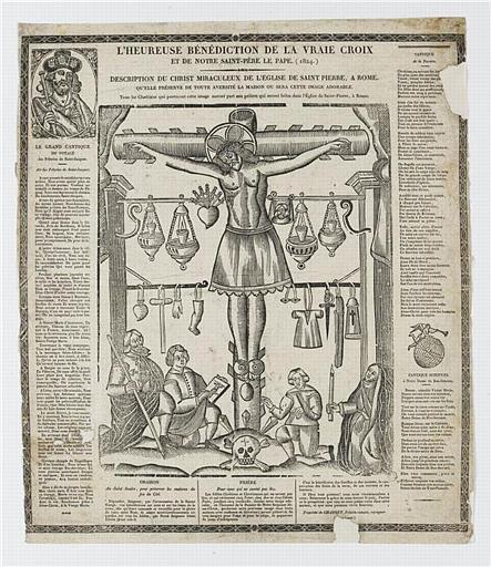 L'HEUREUSE BENEDICTION DE LA VRAIE CROIX / ET DE NOTRE SAINT-PERE LE PAPE (1824.) (titre inscrit)