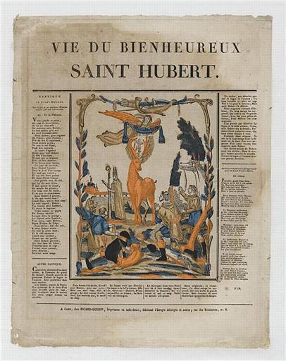 LA VIE DU BIENHEUREUX / SAINT HUBERT (titre inscrit)