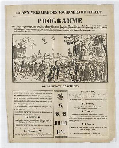 14e ANNIVERSAIRE DES JOURNEES DE JUILLET (titre inscrit)