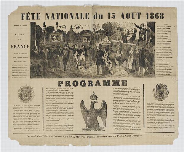 FETE NATIONALE DU 15 AOUT 1868 (titre inscrit)